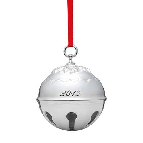 Holly Bell 2015 Silverplate Ornament