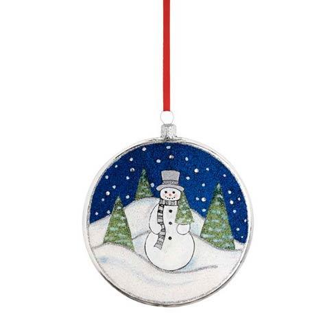 Mr. Snowman Glass Blown Ornament
