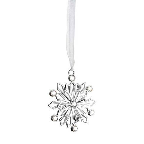 Snowcrystal Silverplate Ornament