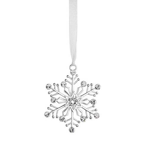 Jeweled Snowflake Silverplate Ornament