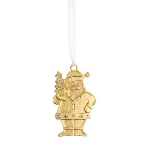 Winter Wonder Golden Santa Goldplate Ornament