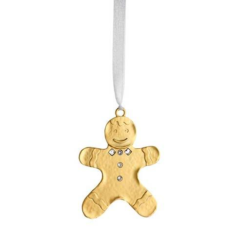 Winter Wonder Golden Gingerbread Man Goldplate Ornament