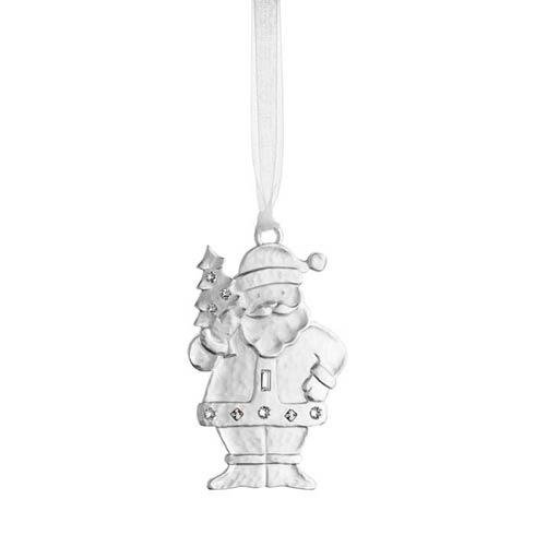 Winter Wonder Silver Santa Silverplate Ornament