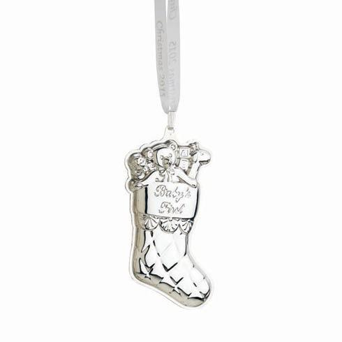 Christmas 2015 Stocking Sterling Ornament