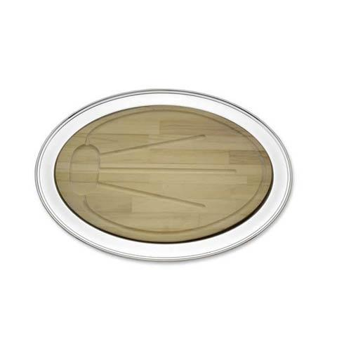 Reed & Barton  Trays Benchmark Oval Tray w/ Wooden Well $375.00
