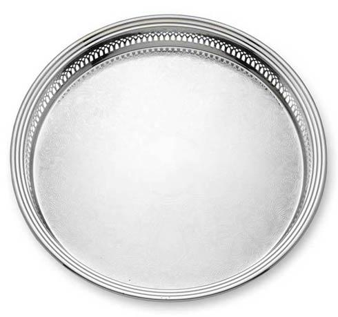 "Reed & Barton  Gallery 15"" D. Round Tray $225.00"