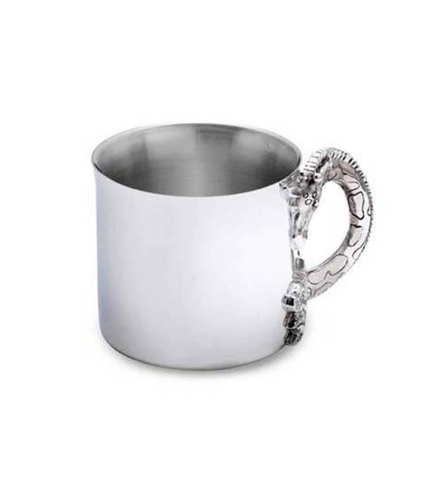 $100.00 Silver Safari Silverplate Baby Cup