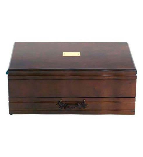 $200.00 Provincial One Drawer Flatware Chest, Mahogany