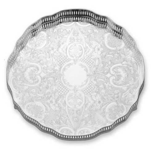 """Reed & Barton  Gallery Gallery 12"""" D. Round Tray $320.00"""