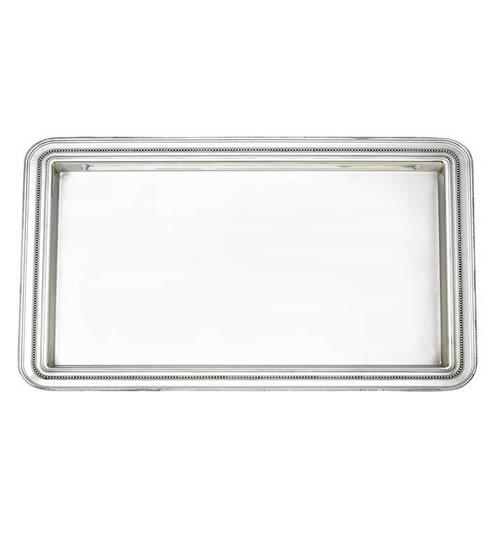 Reed & Barton  Heritage Collection Banded Bead Large Tray $225.00