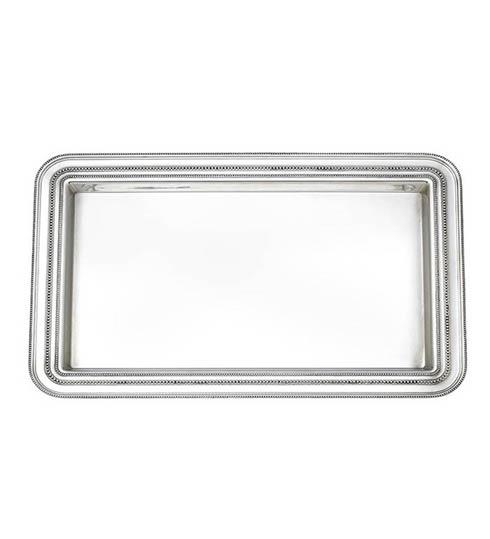 Reed & Barton  Heritage Collection Banded Bead Medium Tray $175.00