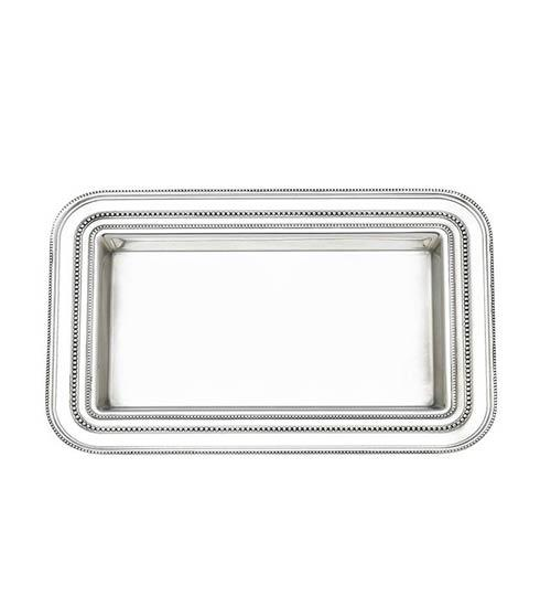 Reed & Barton  Heritage Collection Banded Bead Small Tray $150.00