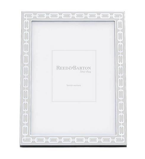 "Reed & Barton  Silver Link Collection ~ Frames, clocks, letter openers and more White 8 x 10"" Picture Frame $65.00"
