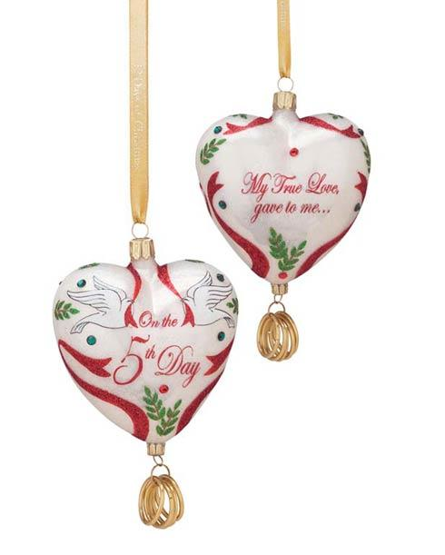 """$70.00 Blown Glass Ornament """"Five Golden Rings"""" (5th in series)"""