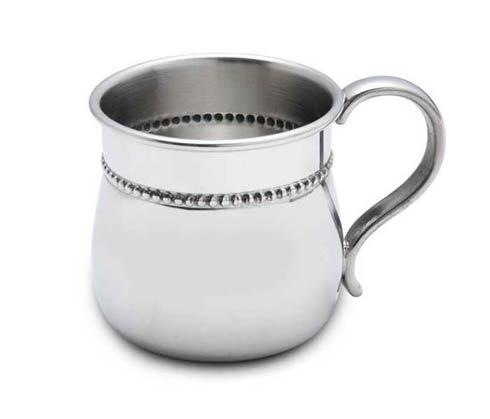 Reed & Barton  Cups Beads Pewter Baby Cup $70.00