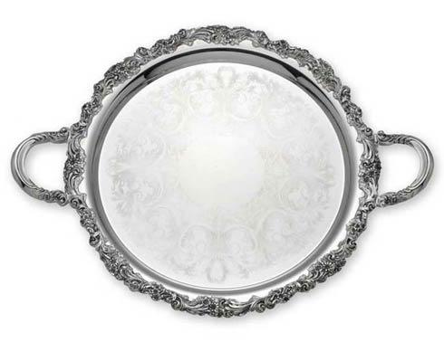 Reed & Barton  Burgundy Round Tray with Handles $250.00