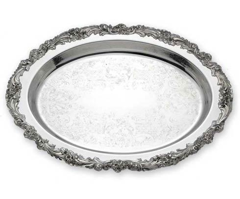 Reed & Barton  Burgundy Oval Tray $260.00