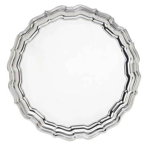 "Reed & Barton  Chippendale 12 1/2"" D. Round Tray $110.00"