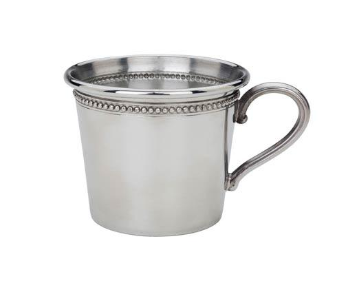 $90.00 Beads Pewter Baby Cup