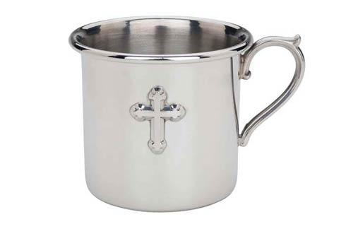 $70.00 Cross Pewter Baby Cup
