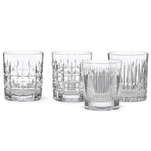 $150.00 New Vintage 4-piece Double Old Fashioned Glass Set