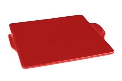 "$56.00 14"" Burgundy Square Pizza Stone"