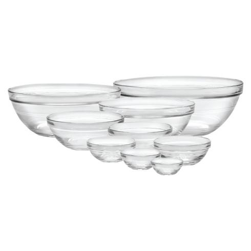 Duralex   Set/9 LYS Stack-able Clear Bowls $39.95