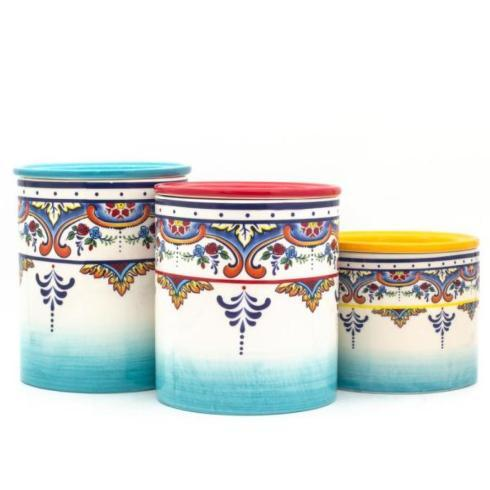 Euro Ceramica   3 Pc. Canister Set - Sale 25% Off $89.00
