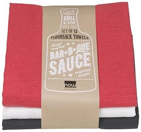$11.25 S/3 BBQ Flour Sack Towels