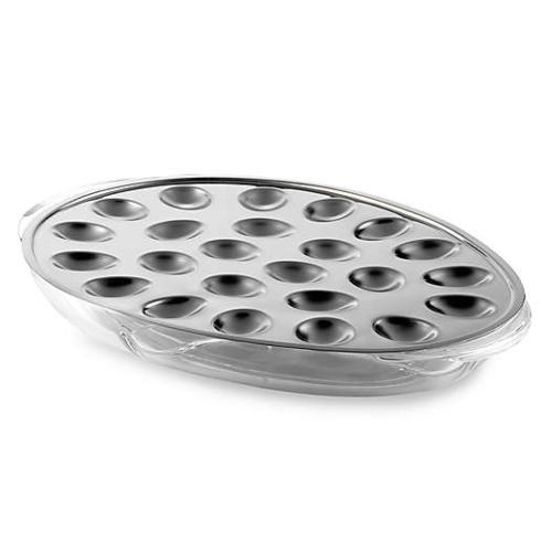 $49.00 Stainless Steel and Acrylic Iced Deviled Egg Server