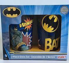 ZAK Designs   16 OZ BATMAN GLASS SET $13.50