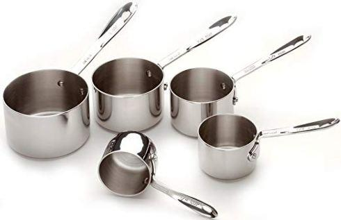 $55.00 All Clad 5 PC Measuring Cup Set