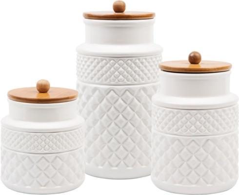 Home Essentials   Set of 3 Ceramic Canisters $64.99
