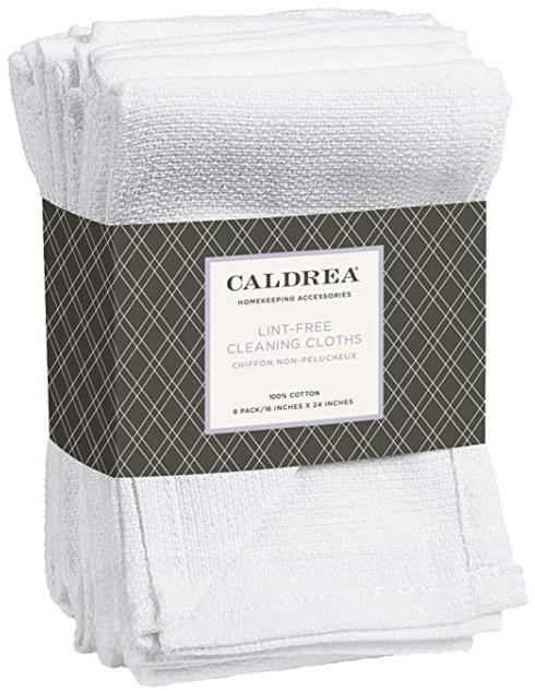 Caldrea   Lint Free Cleaning Cloths Set of 6 $10.95
