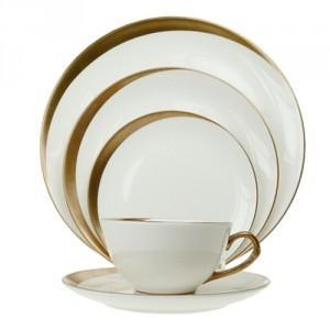 $240.00 Pickard Jubilee White 5 pc place setting