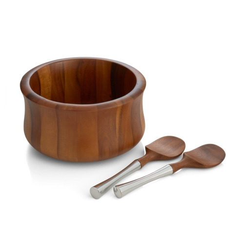 Lawren*s Exclusives   Nambé Wooden Salad Bowl $120.00