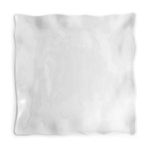 Q Squared   Ruffle White Melamine Square Large Platter $48.00