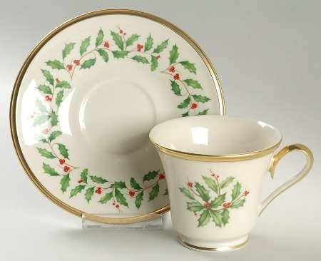 $51.90 Cup and Saucer - Holiday by Lenox