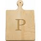 """Maple Leaf at Home   Artisan 9"""" Cutting Board Letter P $26.00"""