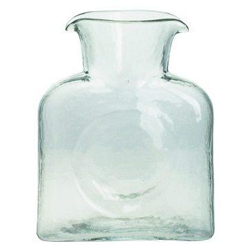 Blenko Glass Co   MINI Water Carafe Clear