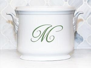 Champagne Bucket~Custom Monogram Bruyere~McDaniel Registry
