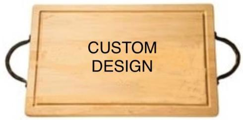 "$194.00 18"" Rectangular Cutting Board~Custom Image~with Handles"