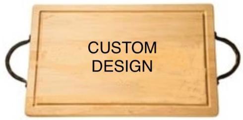 "$194.00 18"" Rectangular Cutting Board~Custom Image~with Handles"