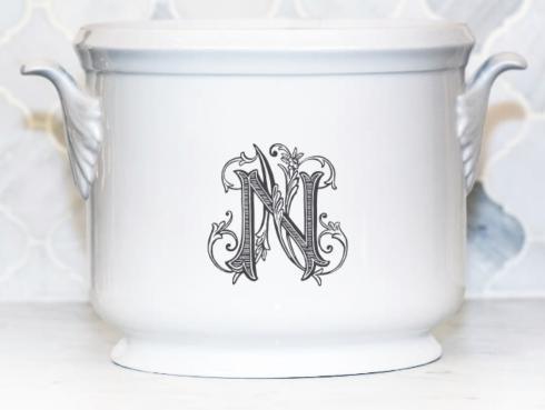 Sasha Nicholas  Couture Monogram~Bridal Registry Champagne Bucket~Black N $185.00