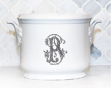 $185.00 Champagne Bucket~Black P