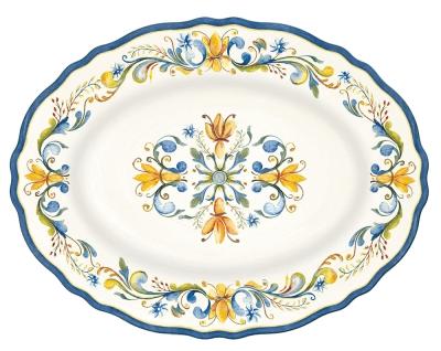 Le Cadeaux  Floral Harvest Oval Platter $36.00