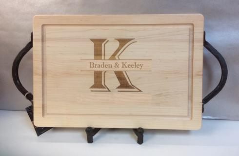 """$165.00 18"""" Rectangular Cutting Board with Handles"""