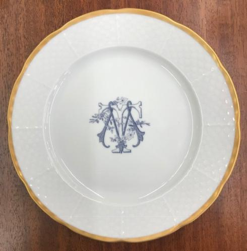 Weave Salad Plate 24k Gold Trim~Custom Monogram collection with 1 products