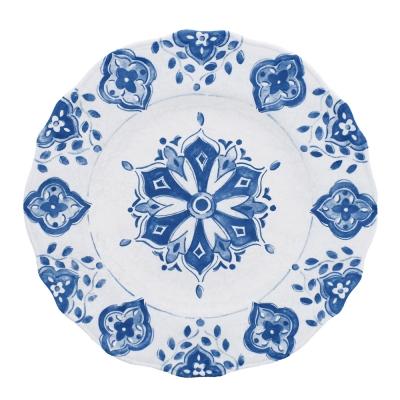 Le Cadeaux  Moroccan Blue Dinner Plate $18.00