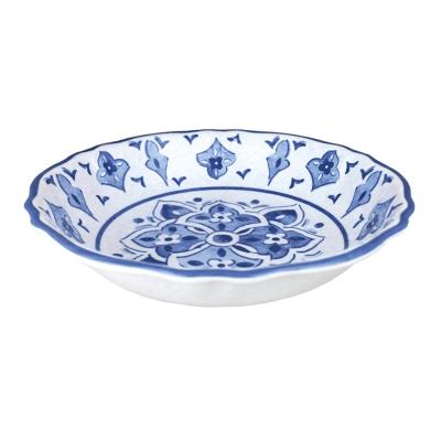 Le Cadeaux  Moroccan Blue Salad Serving Bowl $36.00